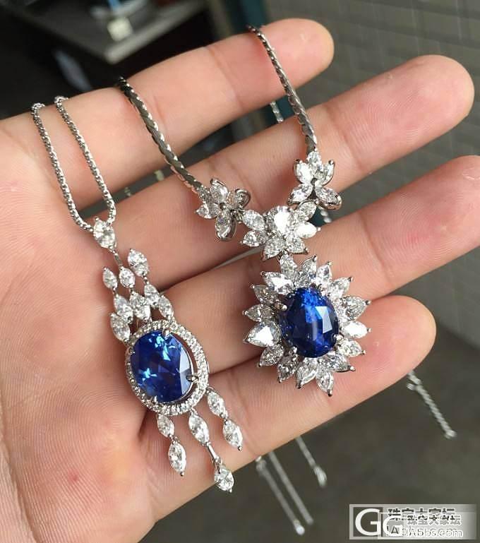 【已售】7.86克拉蓝宝石吊坠 PT900豪华钻石镶嵌_皇家彩宝