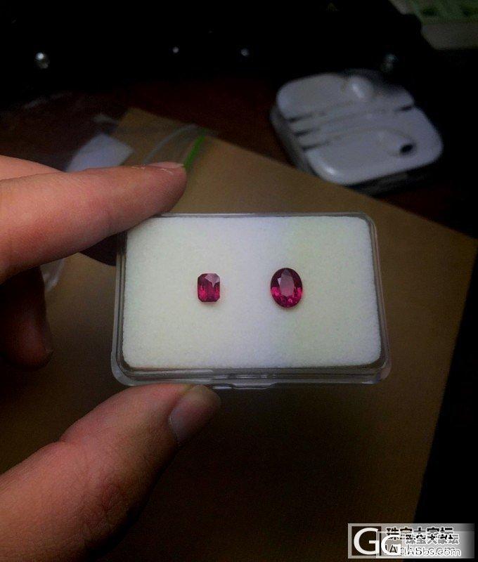 三颗缅甸无烧红宝石,均为优质晶体。_红宝石