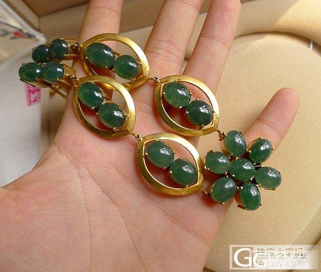 (仁玉珠宝)7月6号新货微信:ryzb668  托铜绿色翡翠蛋面项链_翡翠
