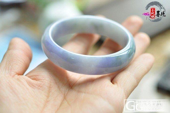 亏转浓紫手镯,坛子里商家买的,55圈_珠宝