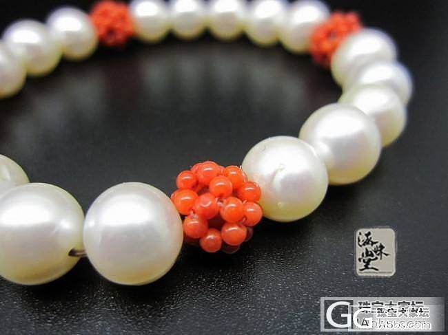 宫廷风格珍珠珊瑚手串_有机宝石