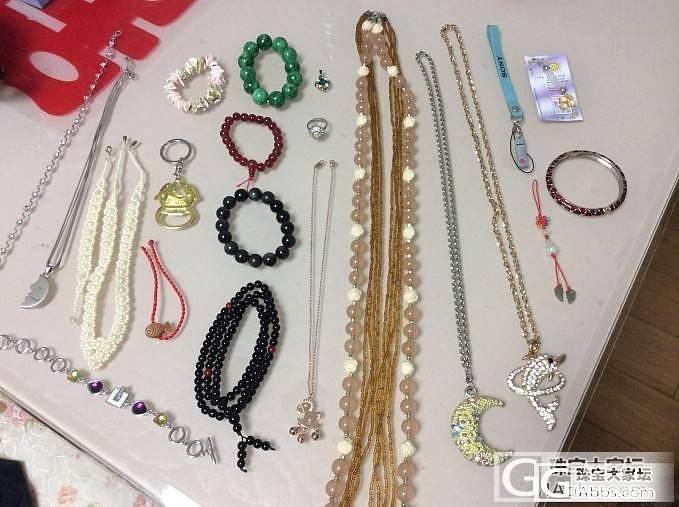 水晶玛瑙珐琅珍珠贝壳翡翠,手镯手链项链手机绳毛衣链,共22件,150包邮,议价别来_珠宝
