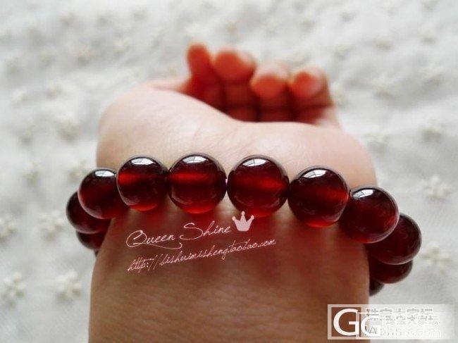 [QueenShine]难以言说的高贵——橙红色石榴石10mm圆珠手链_宝石