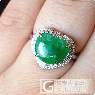 急转正辣绿戒指,已经大刀过了^_^已秒_珠宝