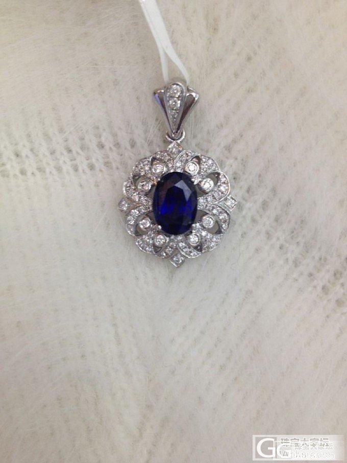 【锡兰之星】浓浓宫廷风来袭!美艳蓝宝石套装~~~_珠宝