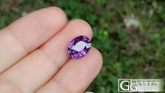 【蓝宝石】4克拉无烧vivid purple,紫色的蓝宝本来就不多,要这样浓郁的也很难得,..._上海皇家蓝彩宝