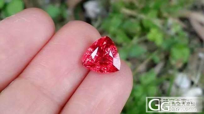 【尖晶石】4.08克拉坦桑尼亚尖晶石,火焰红色,超级无敌美_上海皇家蓝彩宝