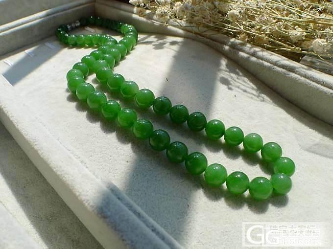【品尚】晒晒碧玉项链,7-8的珠子_品尚翡翠