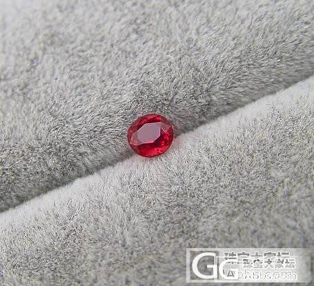 初来论坛处女贴 给妈妈预备的小尖晶石 虽然很小 但是真的媲美红宝_尖晶石刻面宝石