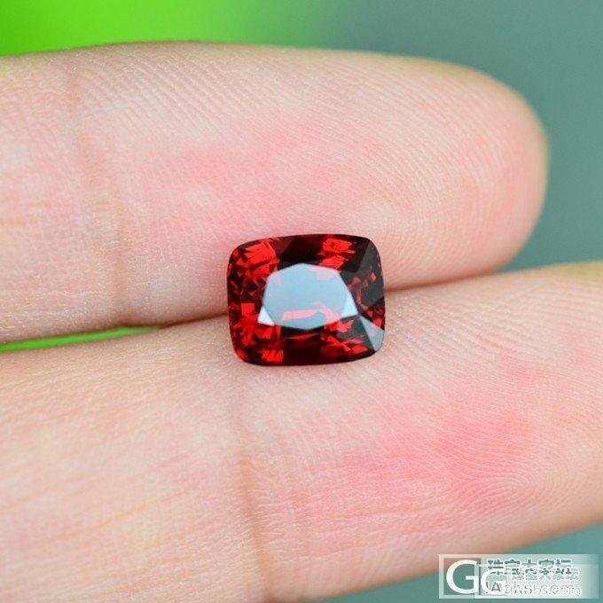 心水的红尖晶,大家看随评,标颗要长长长长长_尖晶石刻面宝石