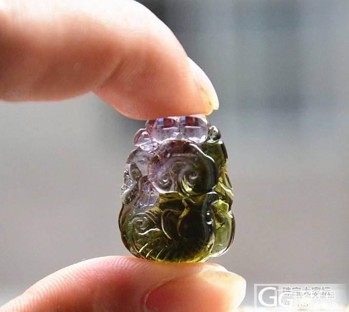 玻璃体拉长 海蓝宝 刻面磷灰石 玻璃体碧玺吊坠 聚宝盆绿幽灵_宝石