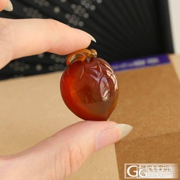 【Dudu彩宝】天然缅甸棕红珀肥桃#1_Dudu翡翠