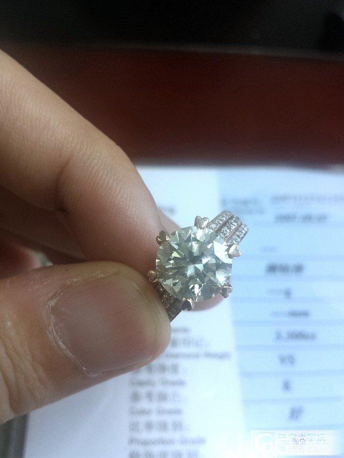 完结 出一个二手 3.3克拉 K VS 切工好的国检证书钻石 上海_钻石