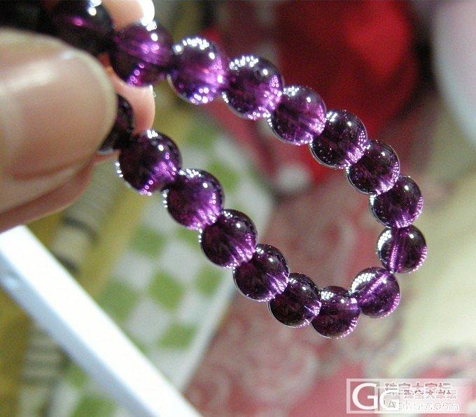 转两条石榴石手链  一条玫红 一条玫紫_宝石