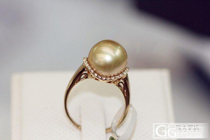 【伊人美珍珠】超高性价比海水珍珠戒指 ~~瞬间有存在感_有机宝石