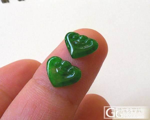 【超超翡翠】老种飘阳绿站佛,老种辣绿如意头一对,老种飘花福在眼前_翡翠