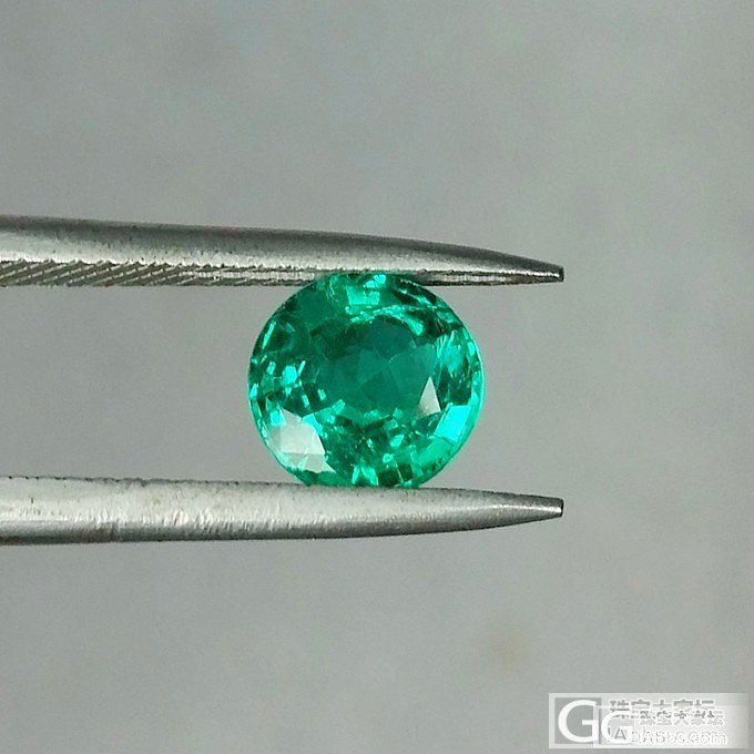 LEAS新品 1.35ct圆形切割祖母绿_宝石