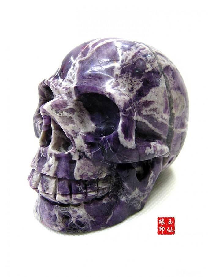 大家看看这是什么石头?应该不是紫龙晶。_宝石