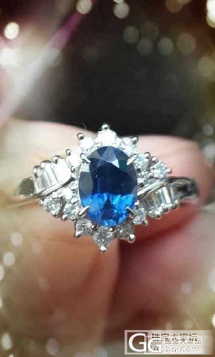 小小的蓝宝石戒指1.09ct_蓝宝石