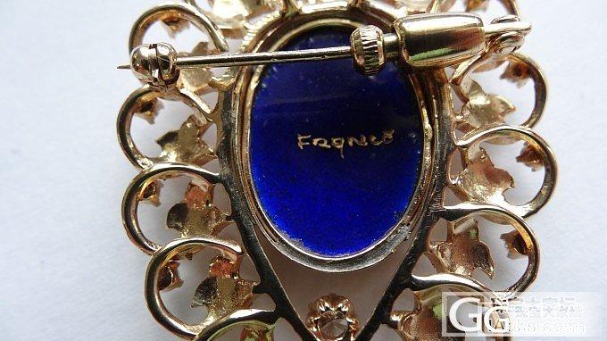 几枚法国美女镶嵌钻石的别针_古董首饰金胸饰钻石