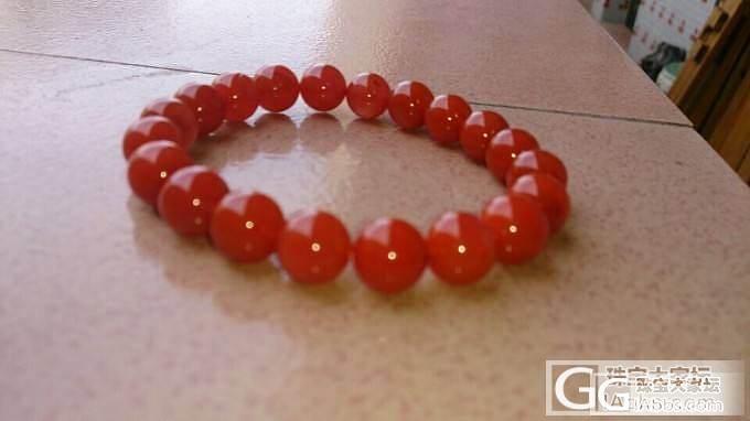 『罂花珠宝工作室』高性价比的天然樱桃红南红手链_玛瑙