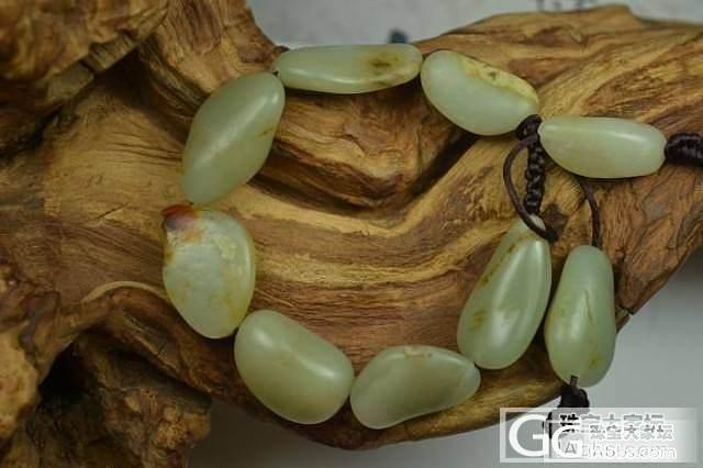 【圣玉堂】和田玉手链 保真 支持复检 青白玉籽料原石手链_传统玉石