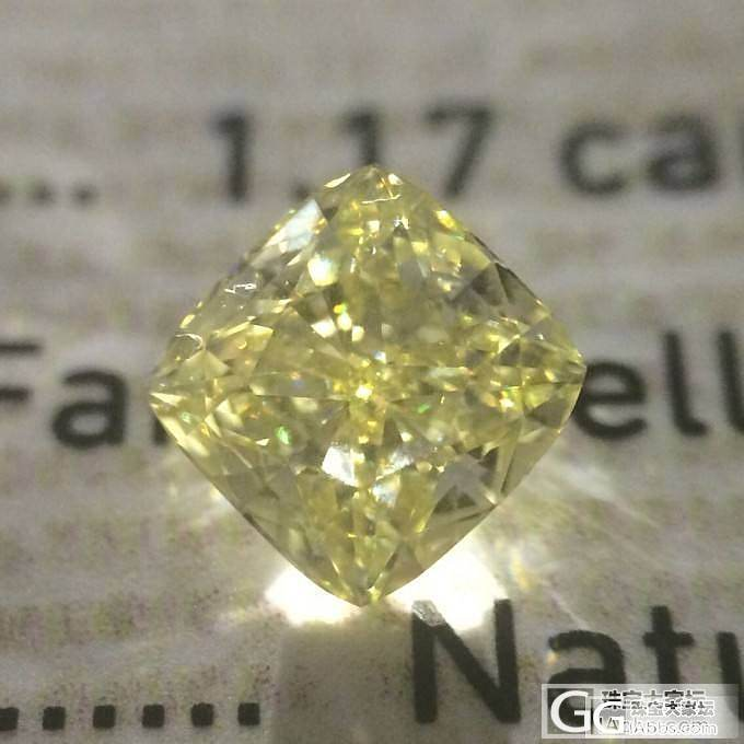 新到 1.17 fancy yellow vs1vgex 中彩黄 黄钻+Tiffany Soleste款式_千寻珠宝