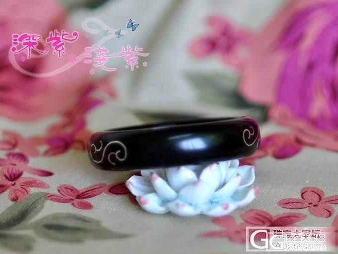 镶银丝的紫光檀手镯_手镯银