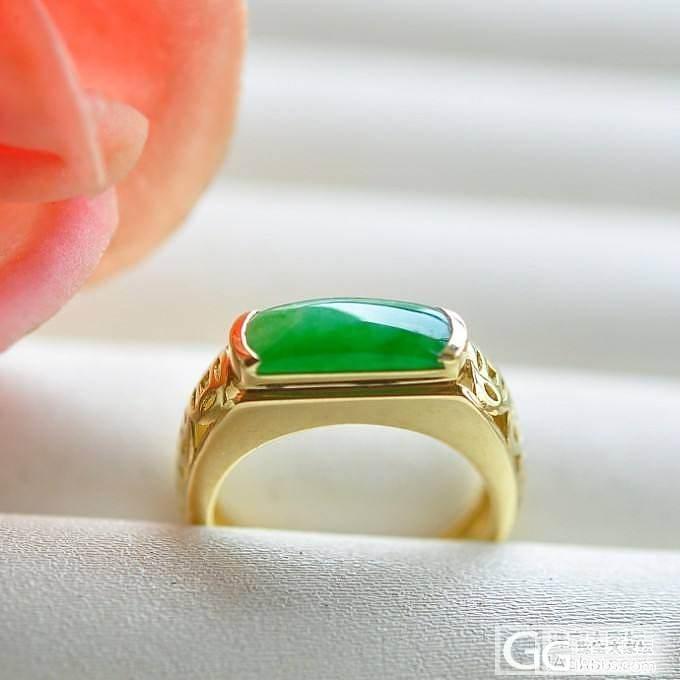 【宝生】天然老坑冰种阳绿马鞍翡翠戒指 18K黄金金钱串镶嵌 有证_小凤眼菩提