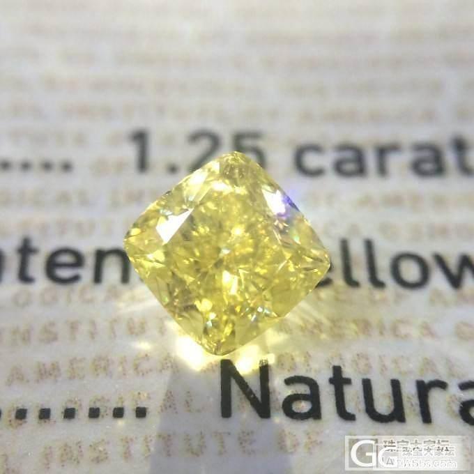【国庆新鲜货】 1.25 Fancy intense yellow VS2 EX VG GIA M_千寻珠宝