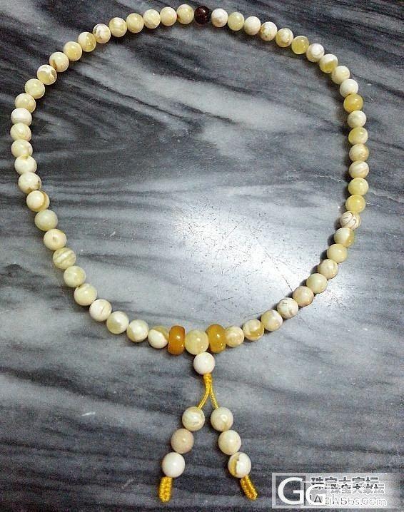 波罗的海白蜜蜡圆珠6mm 手串 54颗 香珀 骨珀_有机宝石