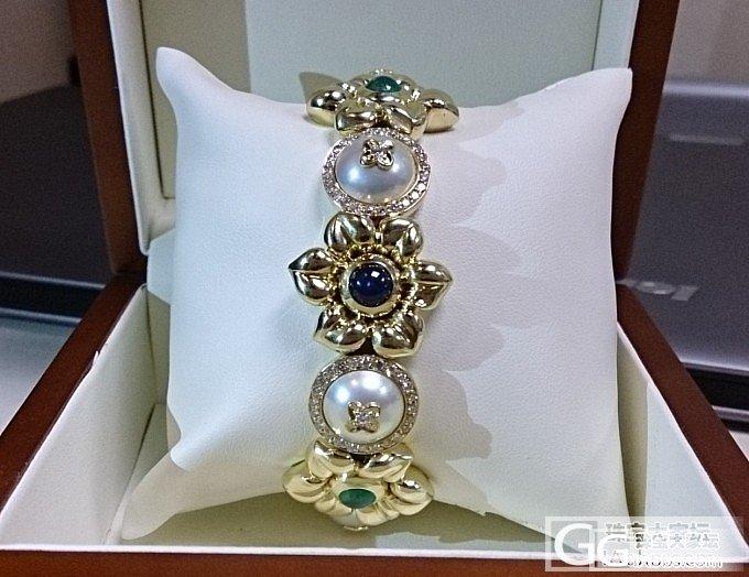 六一节的礼物 小手串_蓝宝石