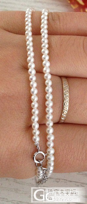 2.5mm细珍珠项链还图啦,配周生生周大福吊坠哦_珠宝