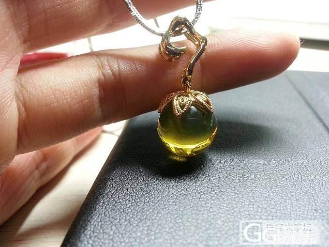 我是来打酱油的,祥云花丝吊坠蓝珀圆珠子的镶嵌_珠宝