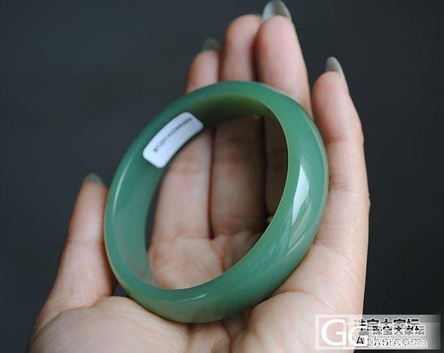 细腻碧玉手镯59.5mm..._传统玉石