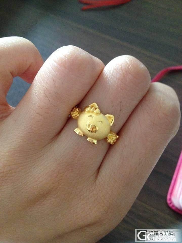 【啦啦啦~~猪头妹的戒指到拉~~】_戒指金福利社