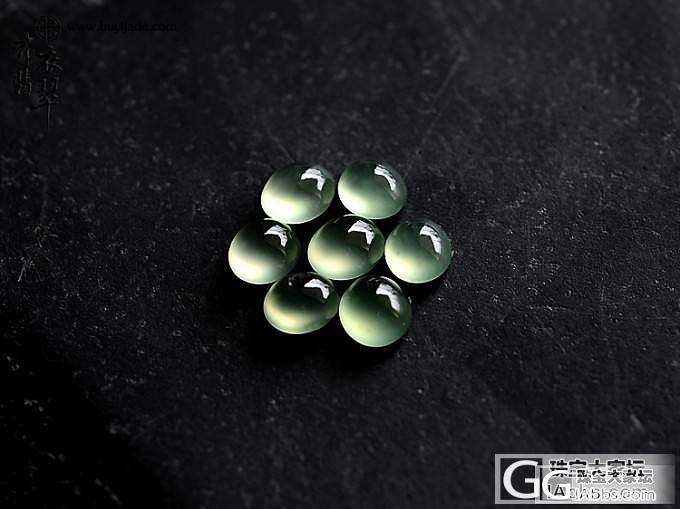 2014.08.25 极纯玻璃种橄榄绿蛋手链组合 36122_布衣珠宝