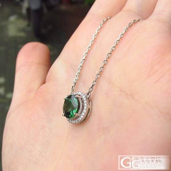 【彩石记】正圆形绿碧玺18k白金锁骨链_宝石