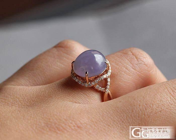 【史书翡翠】神秘而高贵--冰种 艳紫 大紫蛋戒指(白富美必选~)_翡翠