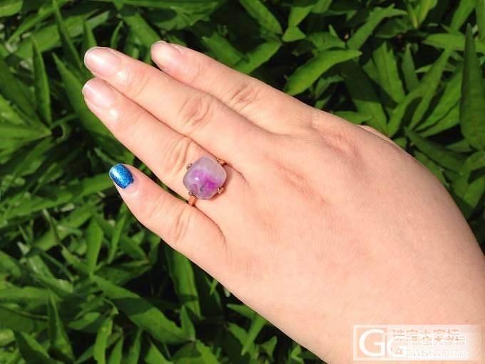 朋友说我的樱花戒指就是块儿年糕!然后我就晒晒我的年糕_宝石