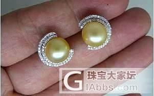 【心怡珠宝镶嵌】多款K金伴钻各种翡翠蛋面镶嵌耳钉_镶嵌珠宝