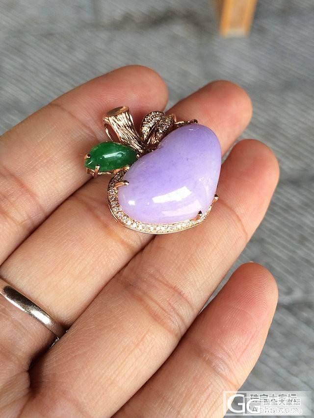 【琢玉居】一手4个超艳紫罗兰吊坠_翡翠