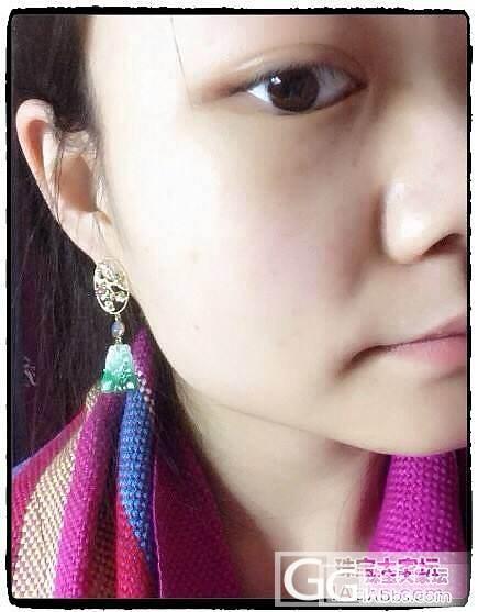 ┋筆墨紫燕┋现代18k金镶嵌阳绿翡翠蝙蝠红宝蓝宝耳钉耳坠附证书_翡翠