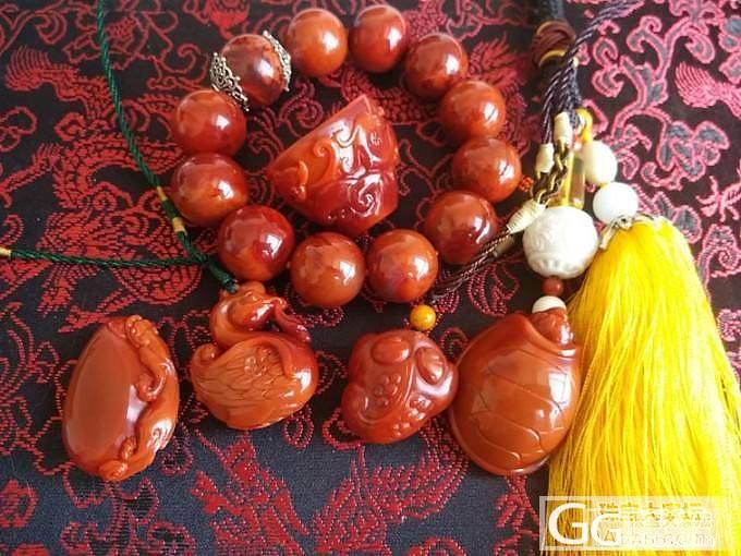 大猫窝的纯手工小叶紫檀书签,南红精品雕件和小豆豆~_传统玉石