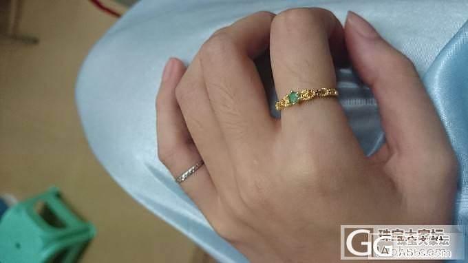 祖母绿、蓝宝石银镶嵌戒指团還圖_珠宝