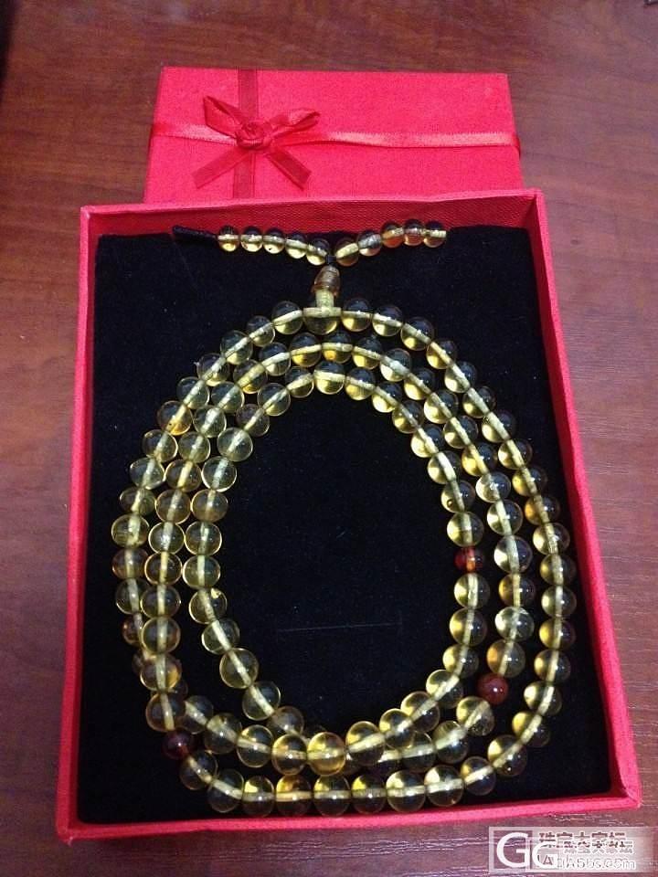 个人闲置转让缅甸净水金蓝珀108手串一条_珠宝