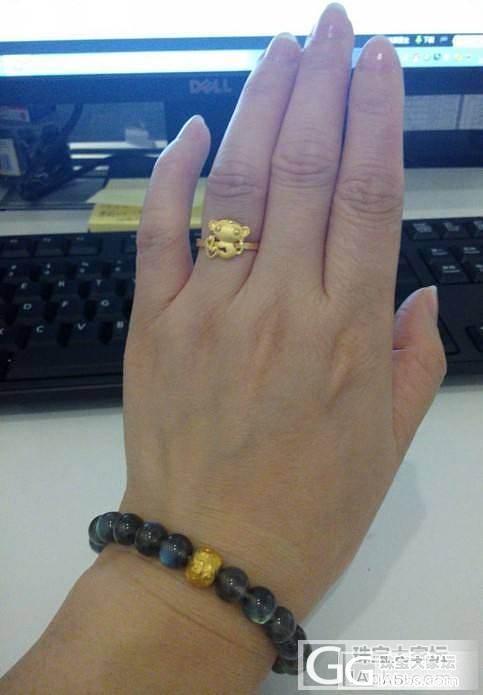 无聊来晒晒CSS大眼猴,还有我的黑体拉长石,嘿嘿!_珠串拉长石戒指金