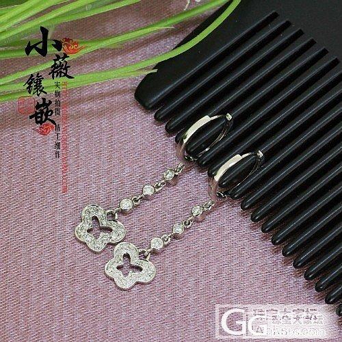 小薇镶嵌 出货欣赏 18K白金蝴蝶镶钻钻石耳扣 个性DIY_镶嵌珠宝