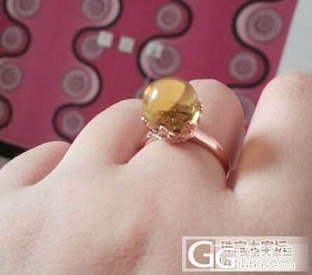 团的墨西哥蓝绿珀皇冠戒指收到了!_珠宝