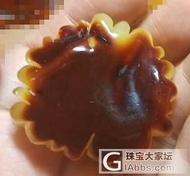 红皮蜜蜡牡丹花 珊瑚雕 精工 13.35克_有机宝石
